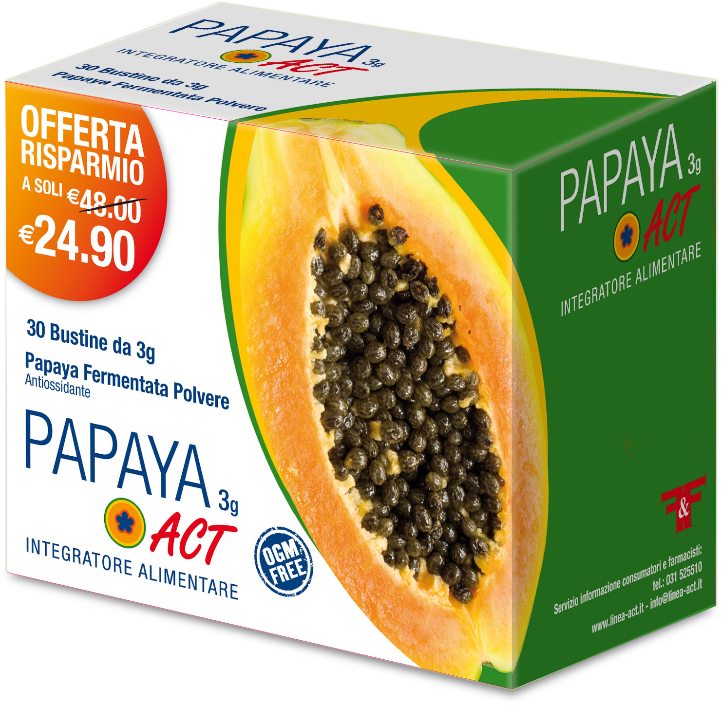 PAPAYA ACT 3g - 30 Bustine