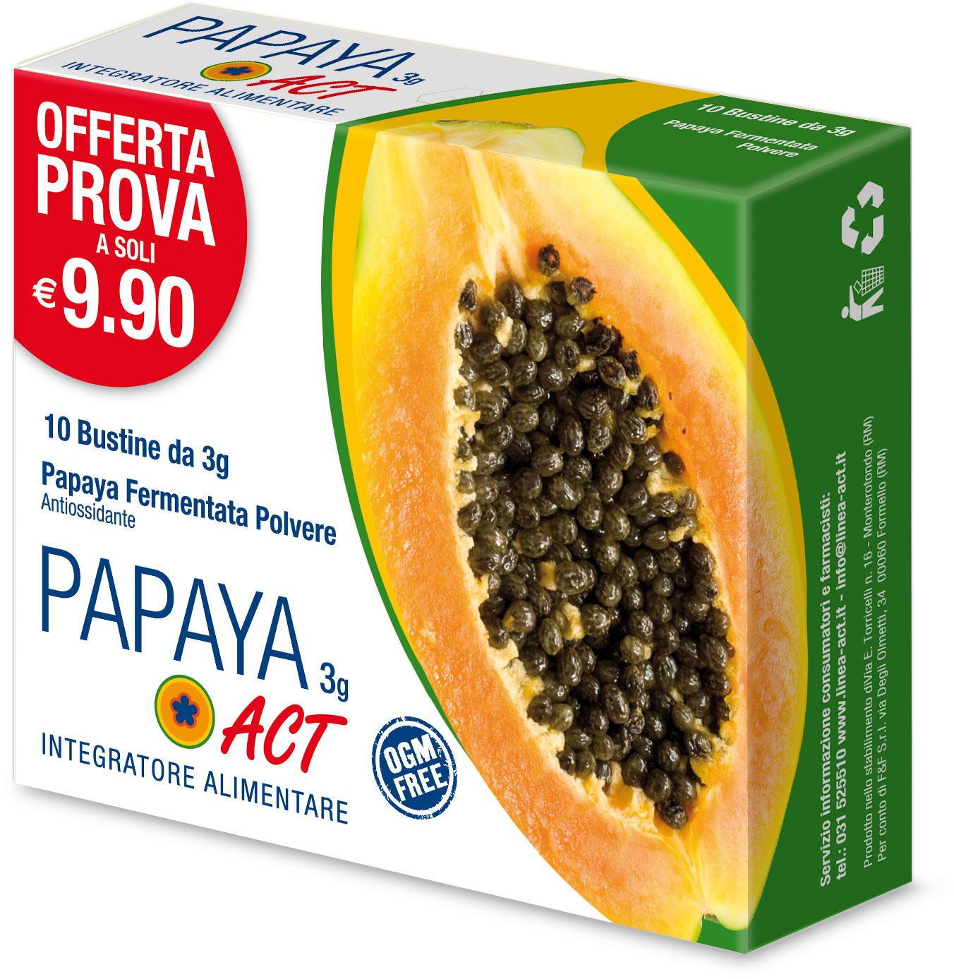 PAPAYA ACT 3g - 10 Bustine