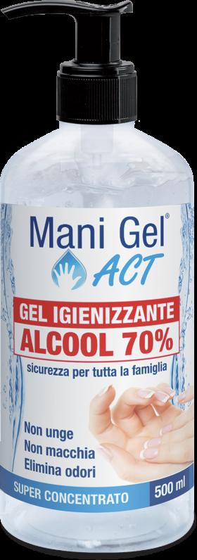MANI GEL ACT IGIENIZZANTE ALCOOLICO AL 70% - 500 ML
